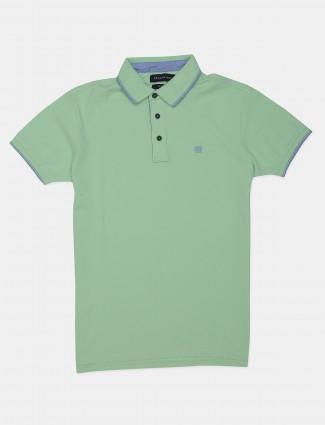 Dragon Hill rust solid green cotton t-shirt