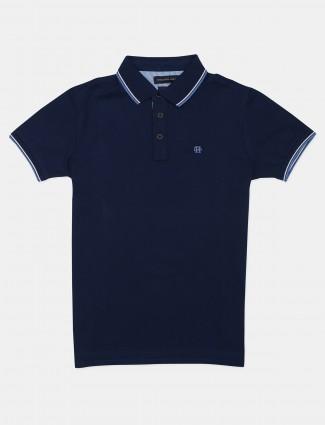 Dragon Hill solid dar blue polo t-shirt