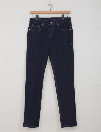 Dragon Hill solid navy slim fit jeans