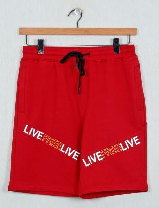 DXI printed red printed shorts