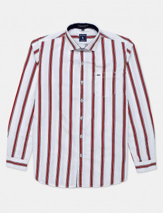 Eqiq cotton shirt with red stripes