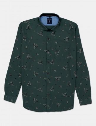 Eqiq green cotton casual shirt