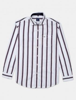 Eqiq navy stripe cotton shirt for men
