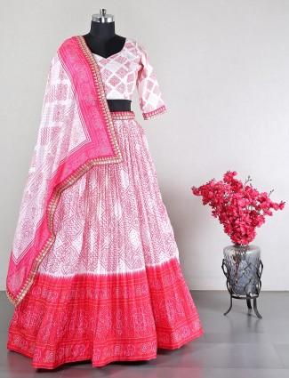 Exclsuive wedding wear white lehenga choli