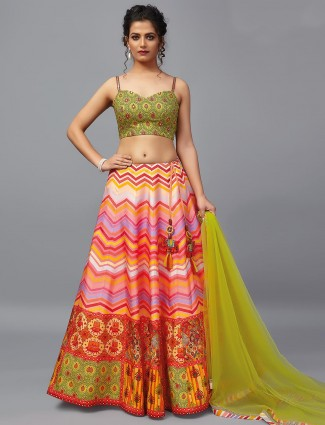 Exclusive pink patola silk wedding wear lehenga