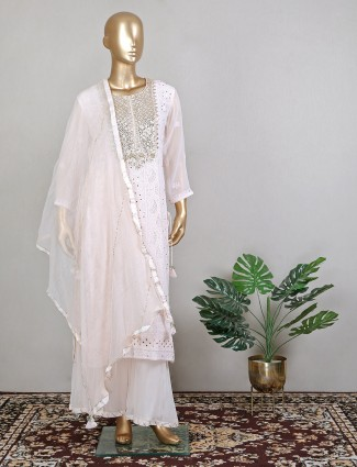 Fantastic wedding sessions lucknowi peach palazzo suit