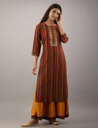 Festival wear multi punjabi style cotton palazzo suit