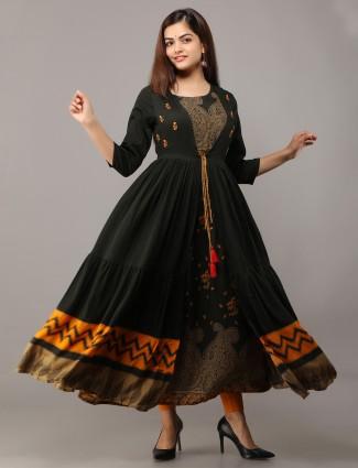Festive occasions amazing black cotton kurti
