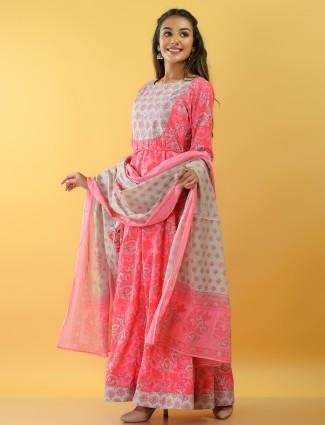 Festive occasions amazing hot pink cotton kurti
