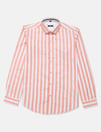 Fete cotton pech stripe casual shirt
