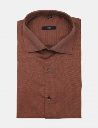 Fete formal style brown shade shirt for men