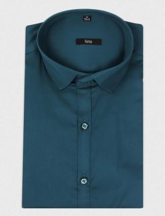 Fete rama green solid shirt