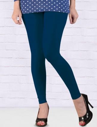 Go Colors cotton navy blue hue ankal length leggings