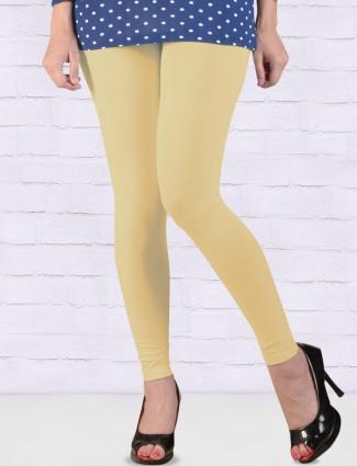 Go Colors cream hue skinny fit ankal length leggings