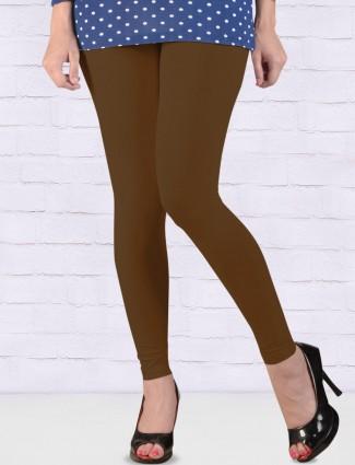 Go Colors presnted brown hue ankal length leggings