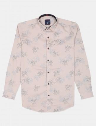 Flirt presented printed style peach shade t-shirt for men