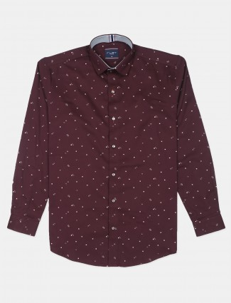 Flirt printed maroon hue shirt for men