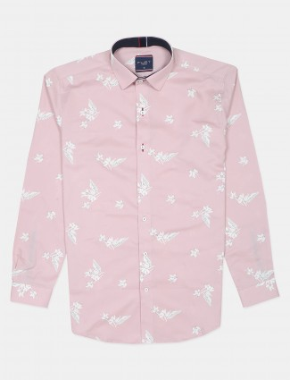 Flirt printed style pink casual style shirt for men