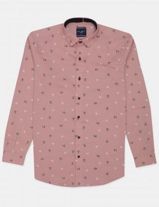 Flirt printed style pink hue cotton shirt