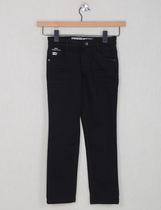 Forway black solid style denim for little boy