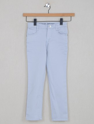 Forway ice blue denim in solid style