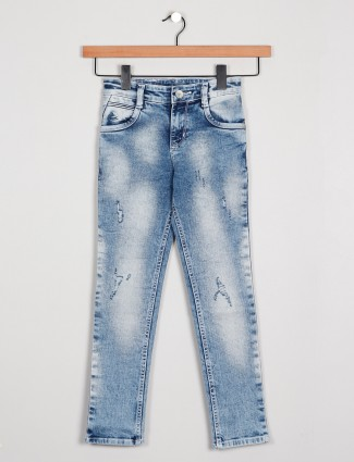 Forway ripped jeans for boys in blue shade