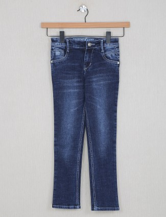 Forway smoke blue denim for boys in washed style