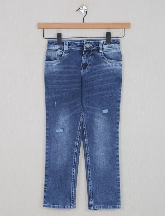 Forway smoke blue washed style denim for boys