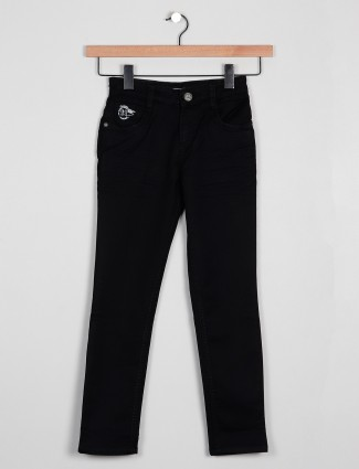 Forway solid style black denim for boys