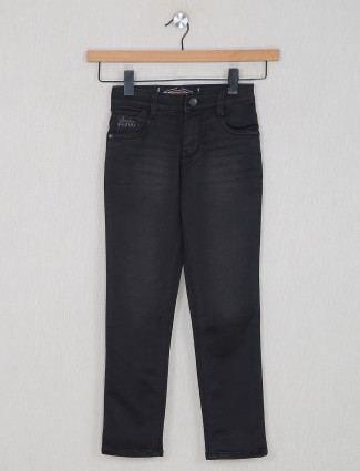 Forway solid style black jeans for boys