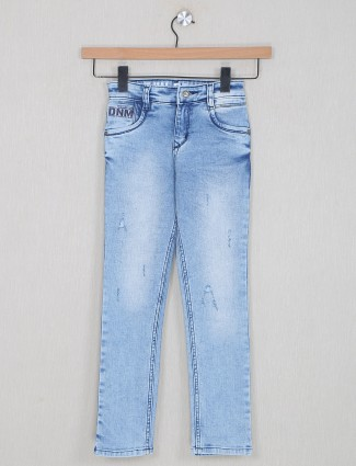 Forway washed denim for boys in ice blue
