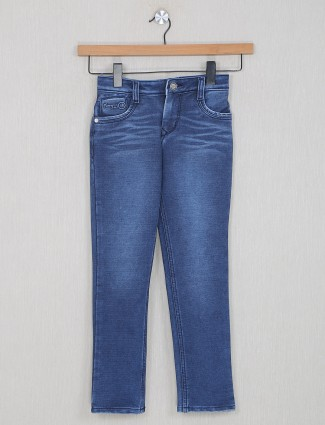 Forway washed style blue denim for boys