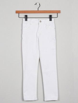 Forway white tint solid style denim