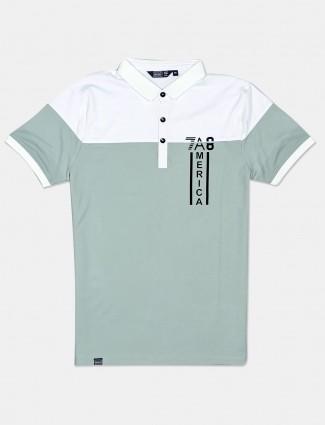 Freeze casual wear green cotton polo men t-shirt