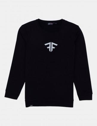 Freeze full sleeves black printed t-shirt