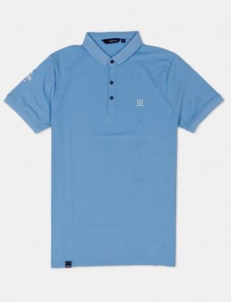 Freeze light blue solid mens t-shirt