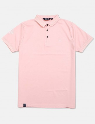 Freeze light pink solid polo t-shirt