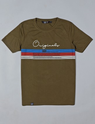 Freeze presented printed olive t-shirt