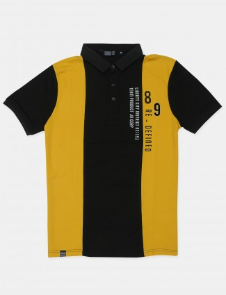 Freeze printed style yellow and black casual t-shirt