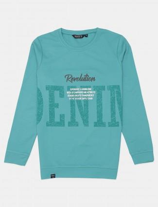 Freeze rama green slim fit cotton printed t-shirt
