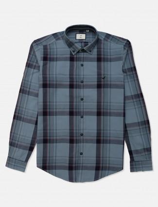 Frio cotton grey checks shirt in cotton