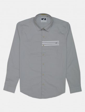 Frio grey solid casual shirt for mens