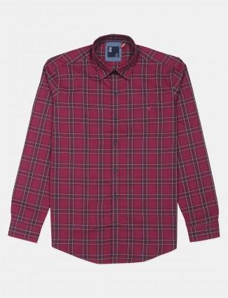 Frio red checks shirt in cotton