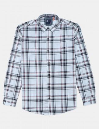 Frio white checks shirt in cotton