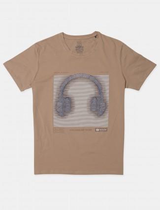 Fritzberg beige casual wear t-shirt for mens