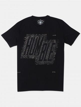 Fritzberg black printed casual t-shirt for mens