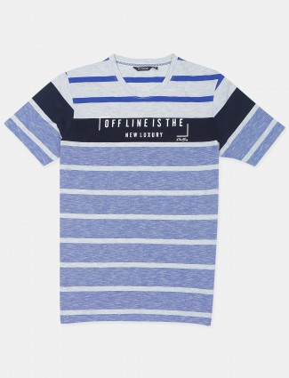 Fritzberg casual wear blue slimfit t-shirt