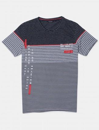 Fritzberg cotton black t-shirt for mens