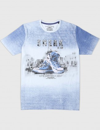 Fritzberg cotton fabric blue t-shirt