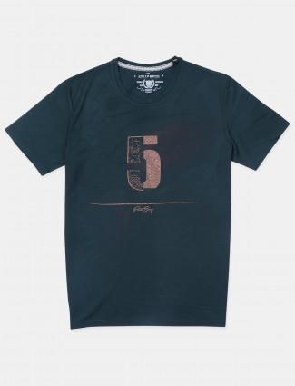 Fritzberg green cotton slim-fit t-shirt for men